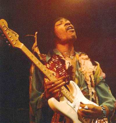 Jimi Hendrix and his Fender Statocaster