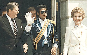 Michael Jackson with Nancy and Ronald Reagan