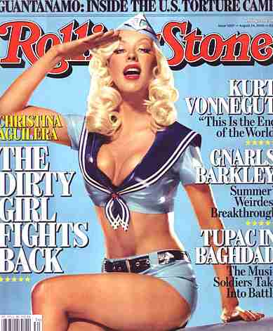 Christina Aguilera on Rolling Stone magazine cover