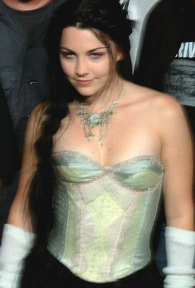 Amy Lee - Evanescence green corset