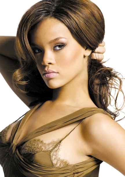 rihanna pictures. Rihanna#39;s brown silk ensemble