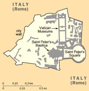 Vatican City, Rome, Italy map