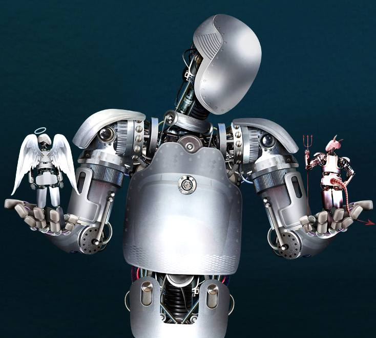Robots morals, and image by Derek Bacon for the Economist