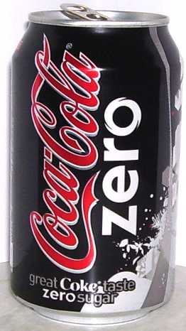 Coca Cola Zero sugar Coke can