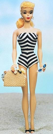 The original Barbie doll was launched in March 1959