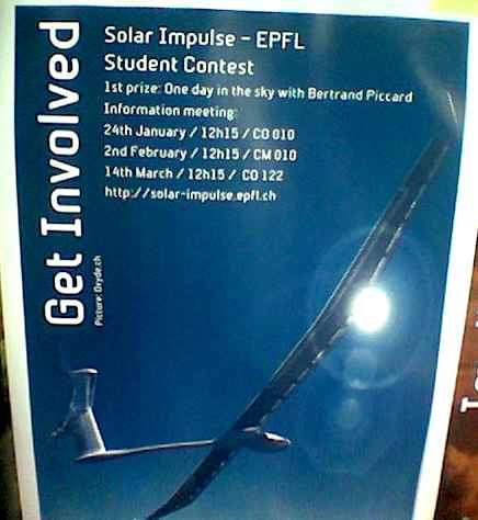 Solar Impulse poster EPFL