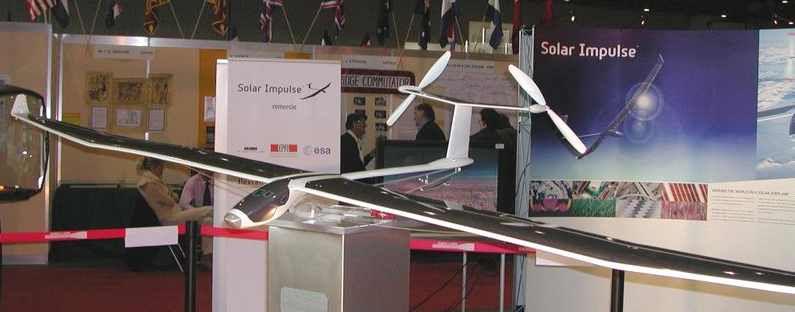 Solar Impulse model airplane at Show