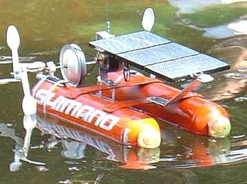 solar powered model shimano aerosol catamaran paddle boat from Mexico