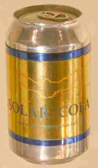 Solar Cola softdrink can, a taste for adventure
