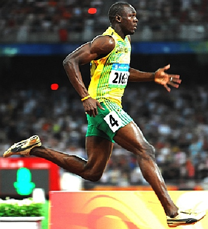 Olympic Games - men's 100 meters, Usain Bolt - the world's fastest man