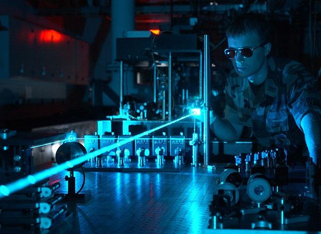 The United States Air Force experimenting with a laser