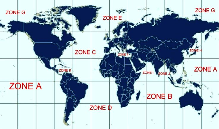 Map showing the world as persistent patrol zones for drone ships